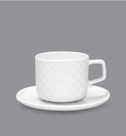 LUBIANA MARRAKESZ Filiżanka 250 ml + spodek 15 cm / 2 el / biały / porcelana