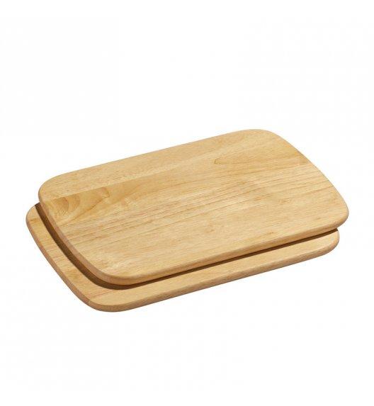 WYPRZEDAŻ! ZASSENHAUS Zestaw 2 desek do krojenia z drewna kauczukowego 28 × 20 cm