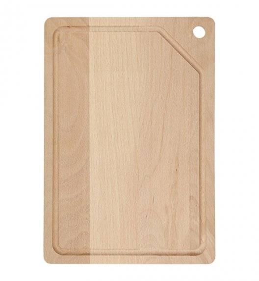WYPRZEDAŻ! FACKELMANN NATURE Deska kuchenna do krojenia / 30 x 21 cm / drewno bukowe