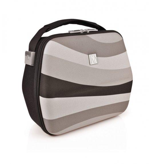 Stylowa torba na lunch z pojemnikami Bag Eva in London Iris w kolorze czarno-szarym / Btrzy