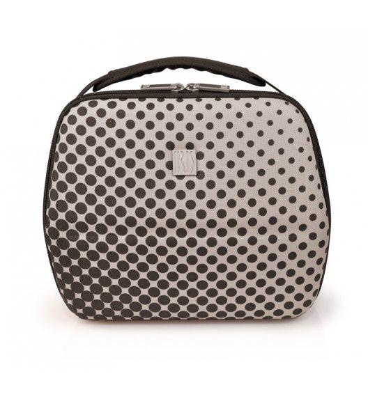 Stylowa torba na lunch z pojemnikami Bag Eva in Milan Iris w kolorze czarno-szarym / Btrzy