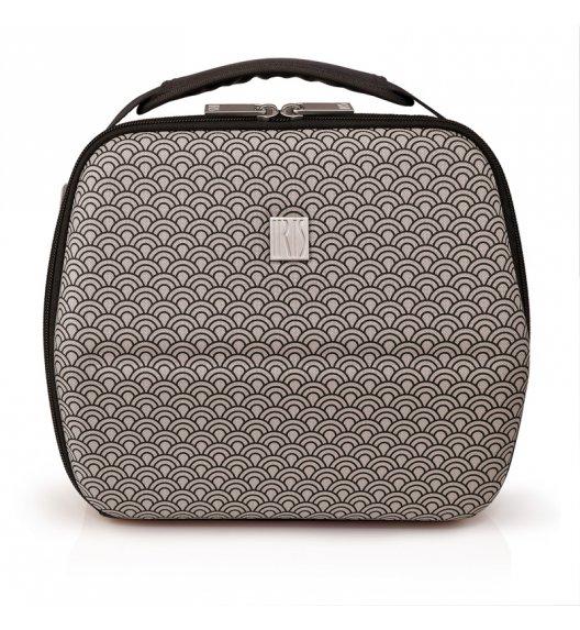 Stylowa torba na lunch z pojemnikami Bag Eva in Tokyo Iris w kolorze czarno-szarym / Btrzy