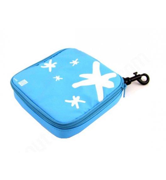 Organizer kwadratowy na kanapkę i przekąski Lunch Bag marki Iris w kolorze niebieskim / Btrzy