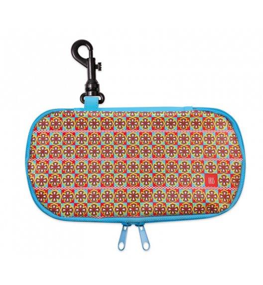 Organizer podłużny na kanapkę i przekąski Lunch Bag Teen Girl marki Iris w kolorze niebieskim z kolorowym wzorem / Btrzy