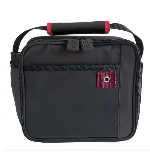 Praktyczna torba mini na lunch Iris z pojemnikami w kolorze czarnym. Wykończenie czerwone / Btrzy