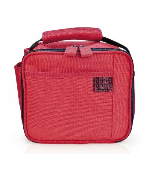 Praktyczna torba mini na lunch Iris Deco Vichy z pojemnikiem 0,6 l w kolorze czerwonym / Btrzy