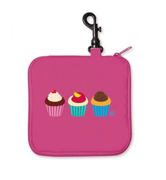 Opakowanie na kanapkę Snack Rico Iris w kolorze różowym z muffinkami + GRATIS breloczek / Btrzy