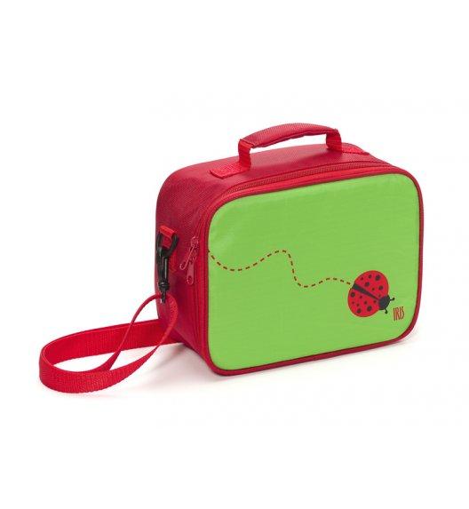 Organizer na kanapkę Snack Rico Lunch Box Iris w kolorze zielono- czerwonym + GRATIS breloczek / Btrzy