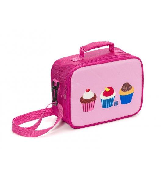 Organizer na kanapkę Snack Rico Lunch Box Iris w kolorze różowym z motywem muffinek + GRATIS breloczek / Btrzy