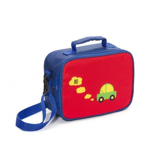 Organizer na kanapkę Snack Rico Lunch Box Iris w kolorze granatowo-czerwonym z samochodzikiem + GRATIS breloczek / Btrzy