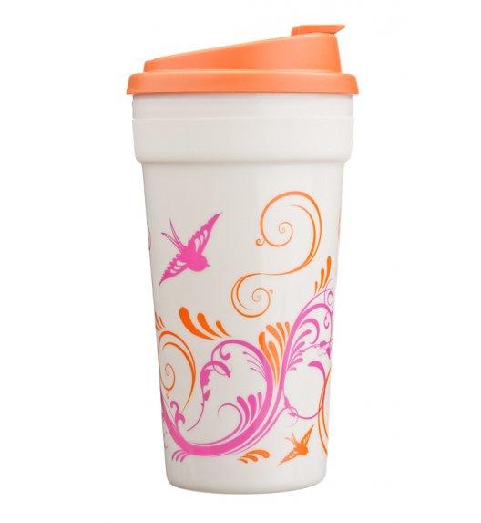 Cool Gear Termiczny kubek z motywem 426 ml w kolorze biało-pomarańczowym / Btrzy