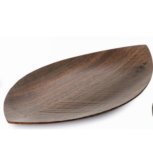 Taca do serwowania Legnoart Leaf wykonana z drewna orzechowego 33 x 19,5 cm. Btrzy.
