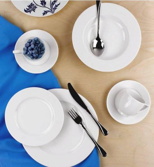 LUBIANA AMBASADOR Serwis obiadowo-kawowy 30 el dla 6 osób / porcelana