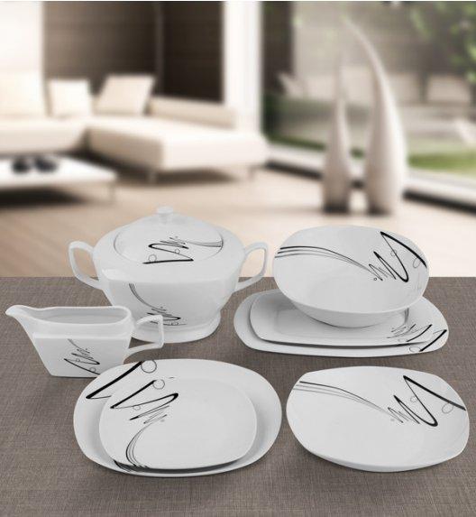 TADAR WSTĘGA Serwis obiadowy 43 elementy / 12 osób / porcelana