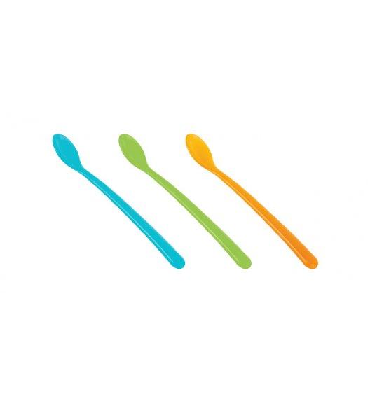 Komplet łyżeczek dziecięcych długich TESCOMA BAMBINI 3 elementy pomarańczowy, zielony, niebieski. ZOBACZ FILM.