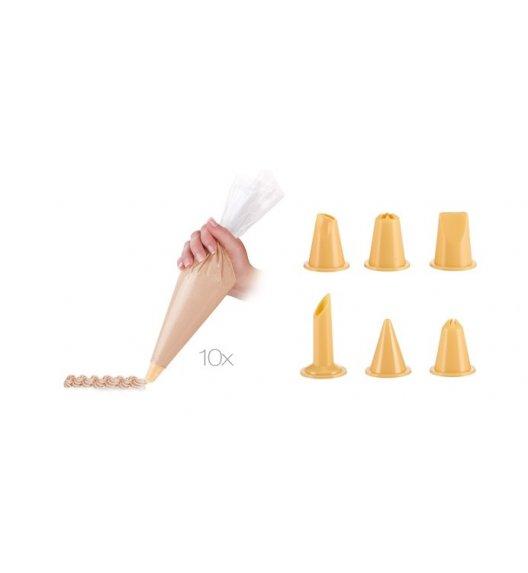 TESCOMA DELICIA Rękaw cukierniczy 30 cm / 10 sztuk + 6 dysz / VIDEO