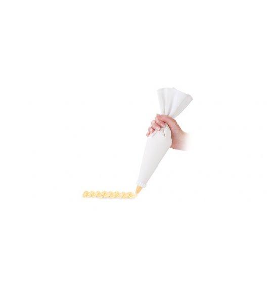 TESCOMA DELICIA Podwójny rękaw cukierniczy płócienny 35 cm + 6 dysz / VIDEO