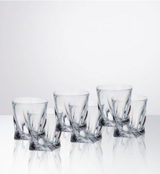 BOHEMIA QUADRO Komplet 6 kieliszków likier - nalewka / szkło kryształowe / CR93A500