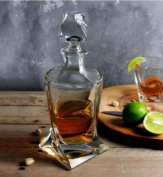 BOHEMIA QUADRO Karafka do whisky 850 ml / szkło kryształowe / CR6A500