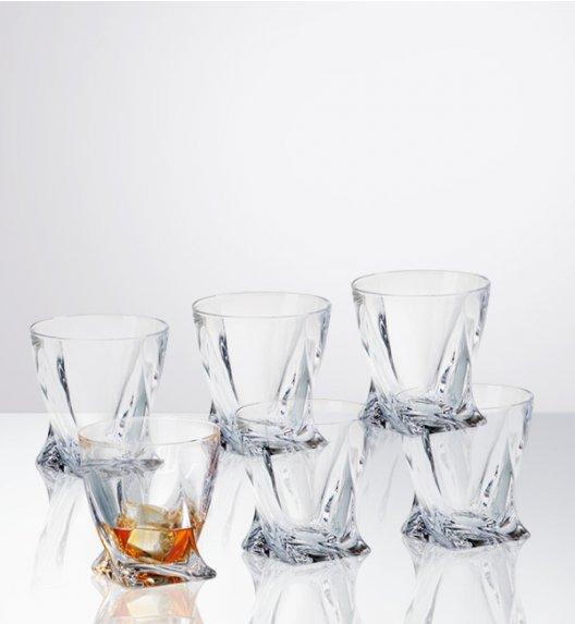 BOHEMIA QUADRO Komplet 6 szklanek do whisky 340 ml / Szkło kryształowe / CR60A500