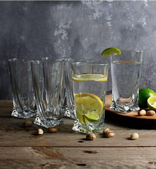BOHEMIA QUADRO Komplet 6 szklanek do wody 350 ml / szkło krystaliczne / CR62A500