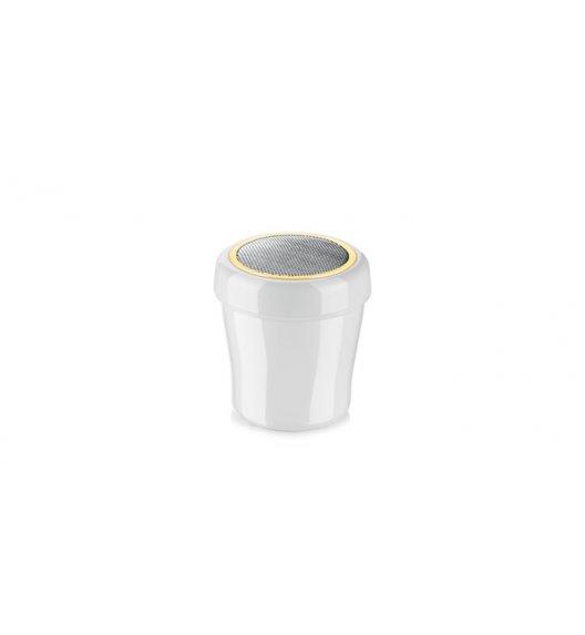 TESCOMA DELICIA Cukiernica z wytrzymałego plastiku ze stalowym sitkiem 200 ml 630330 ZOBACZ FILM