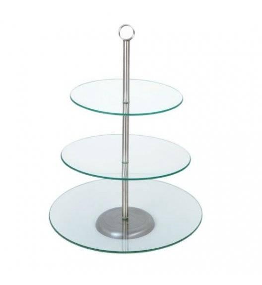 ODELO LILY Okrągła patera na ciasto / 3 poziomy / szkło